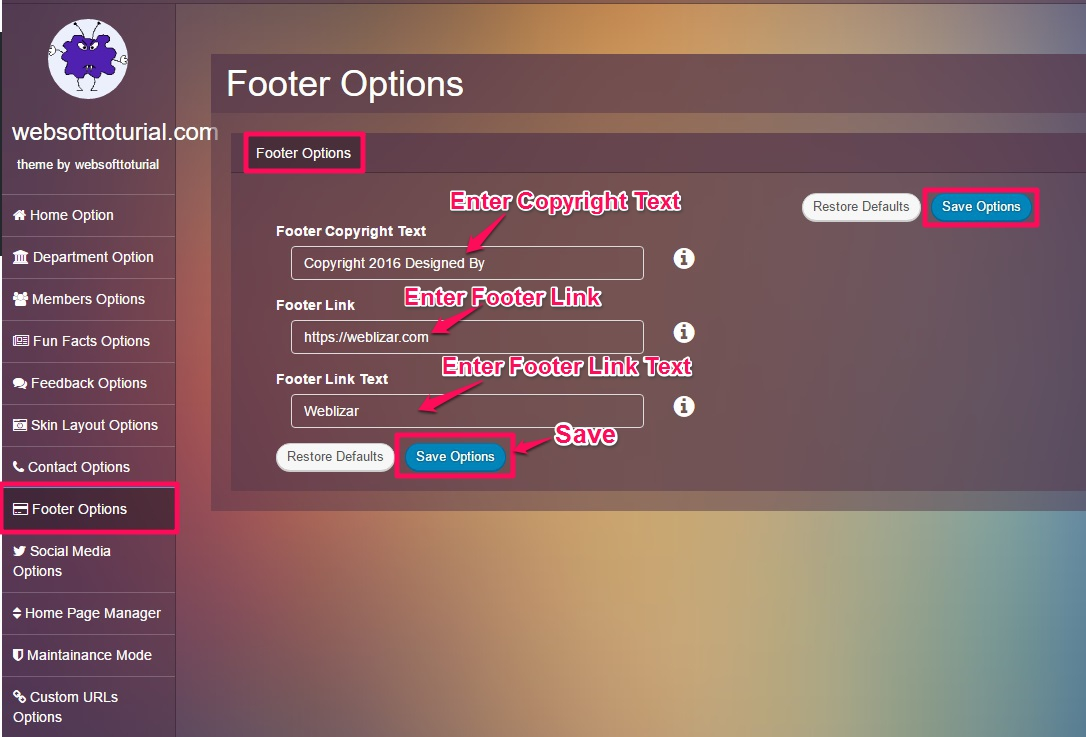 Footer-option