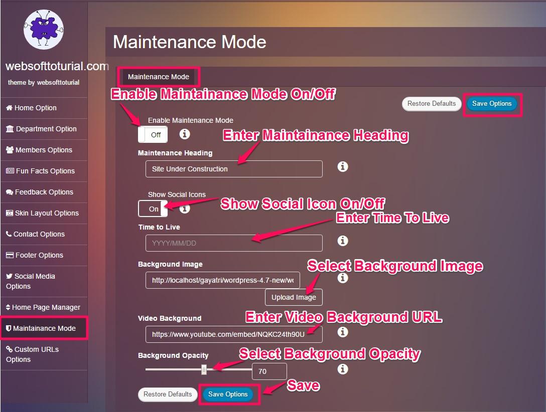 Maintainance-mode