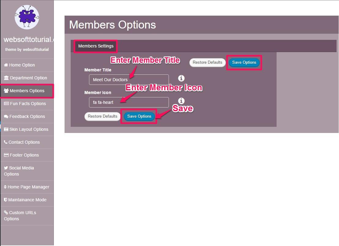 Member-setting