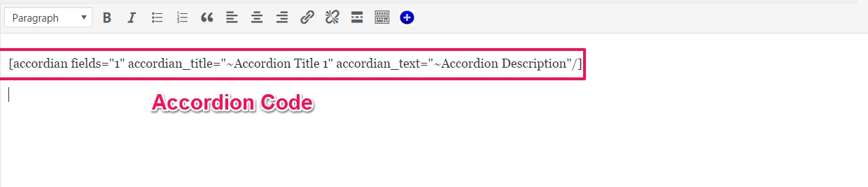 accordion shortcode