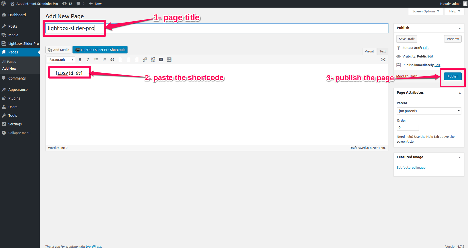 lbsp-publish-gallery-into-page