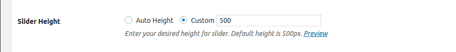 Slider Height