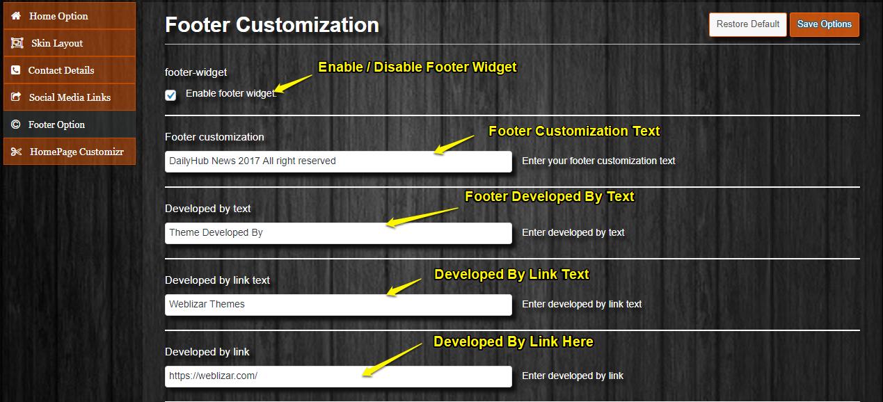 footer-customization