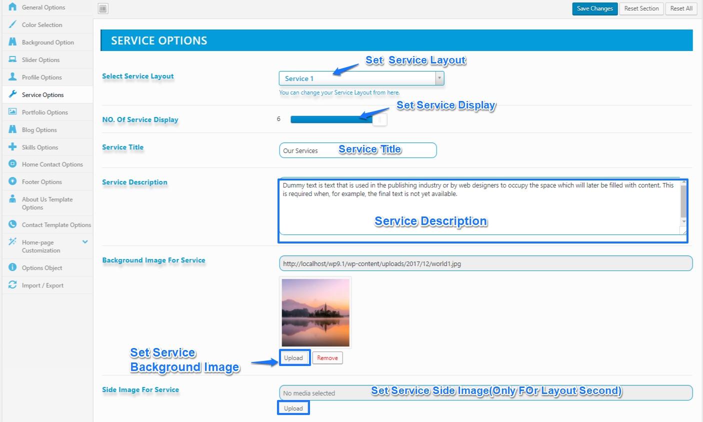 service-setting