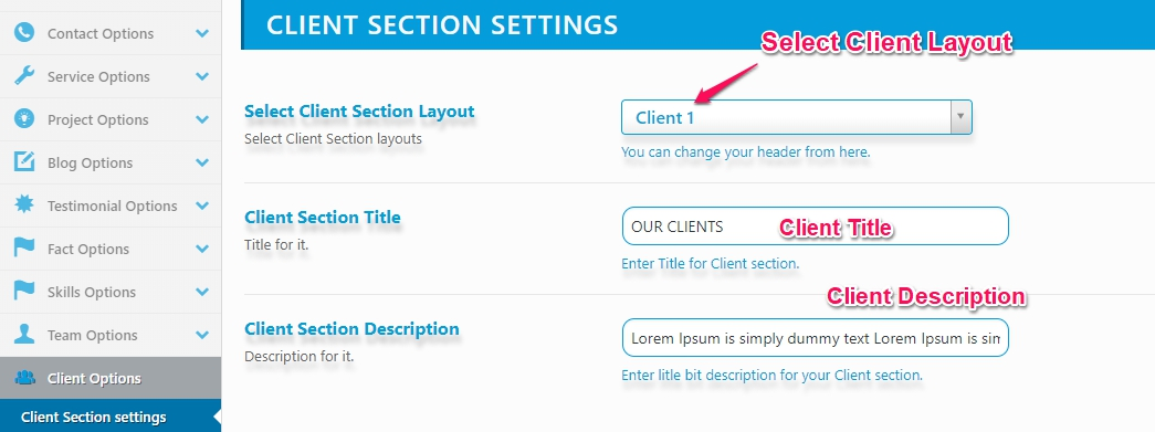 client-setting