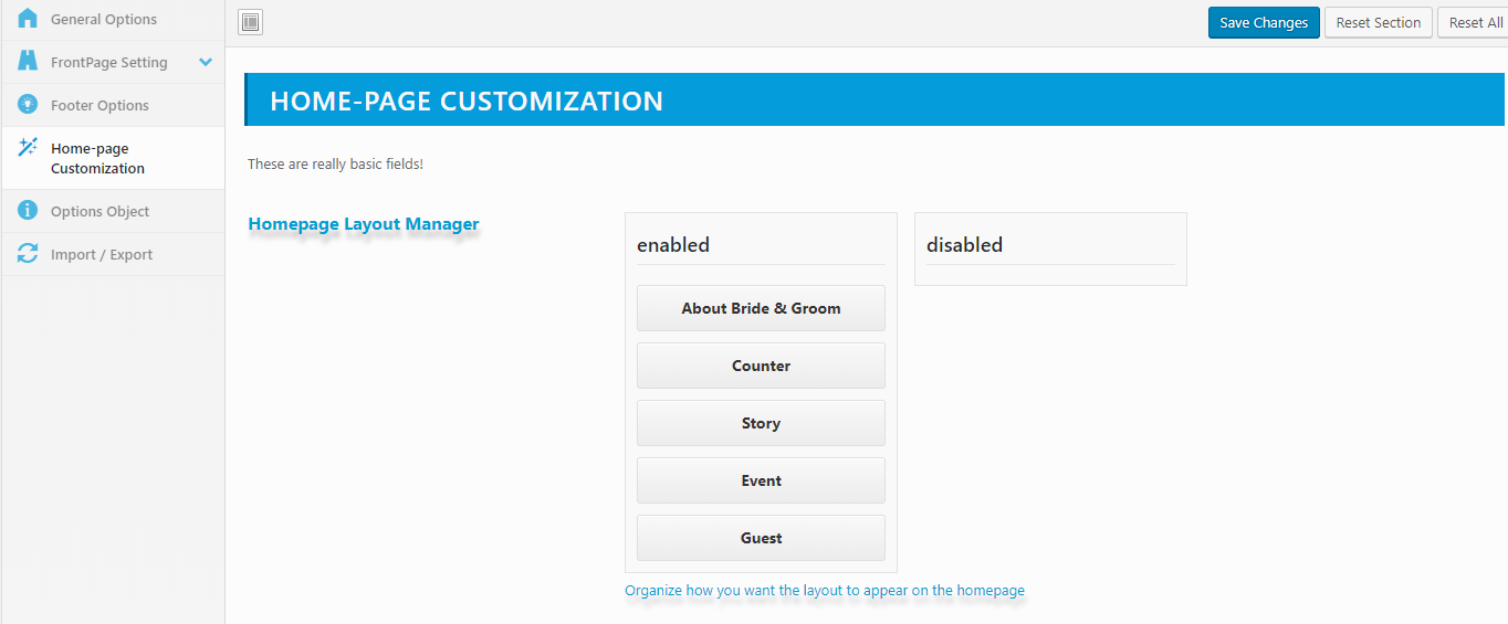 home-page-customozation