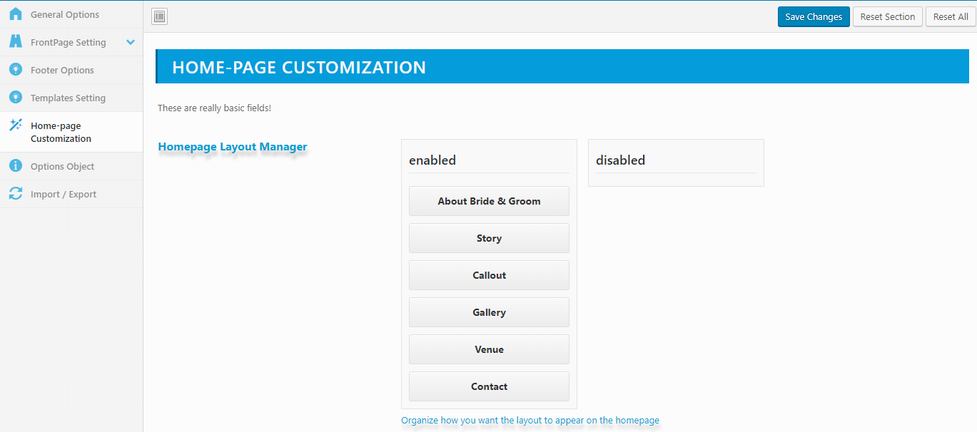 homepage-customizer