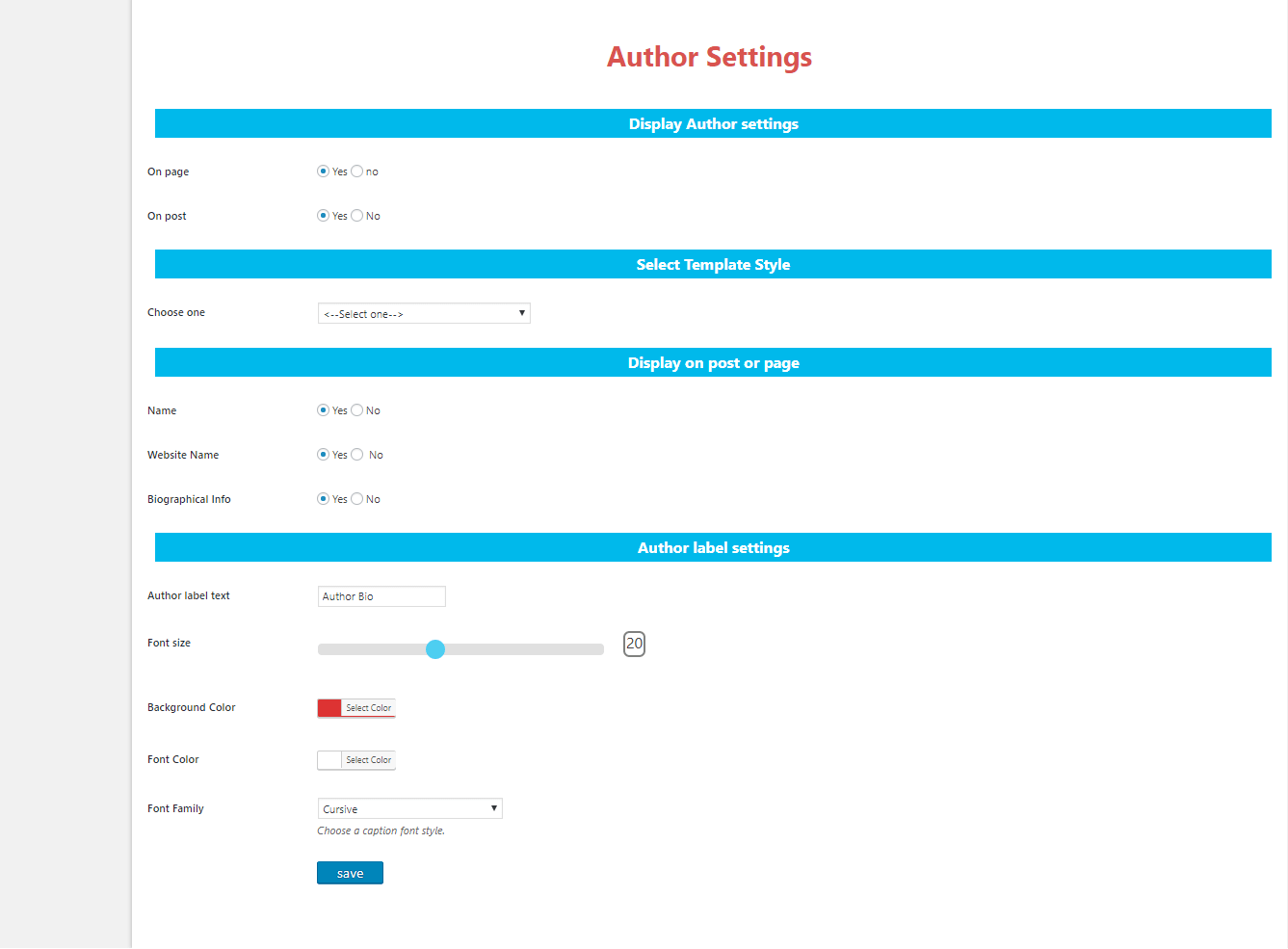 author-settings-page