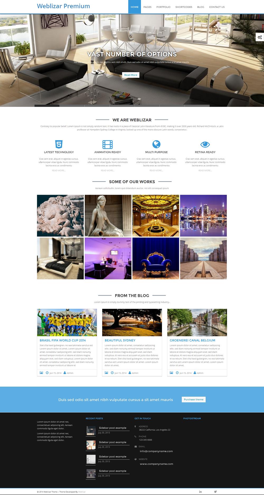 weblizar-premium-theme-home-page