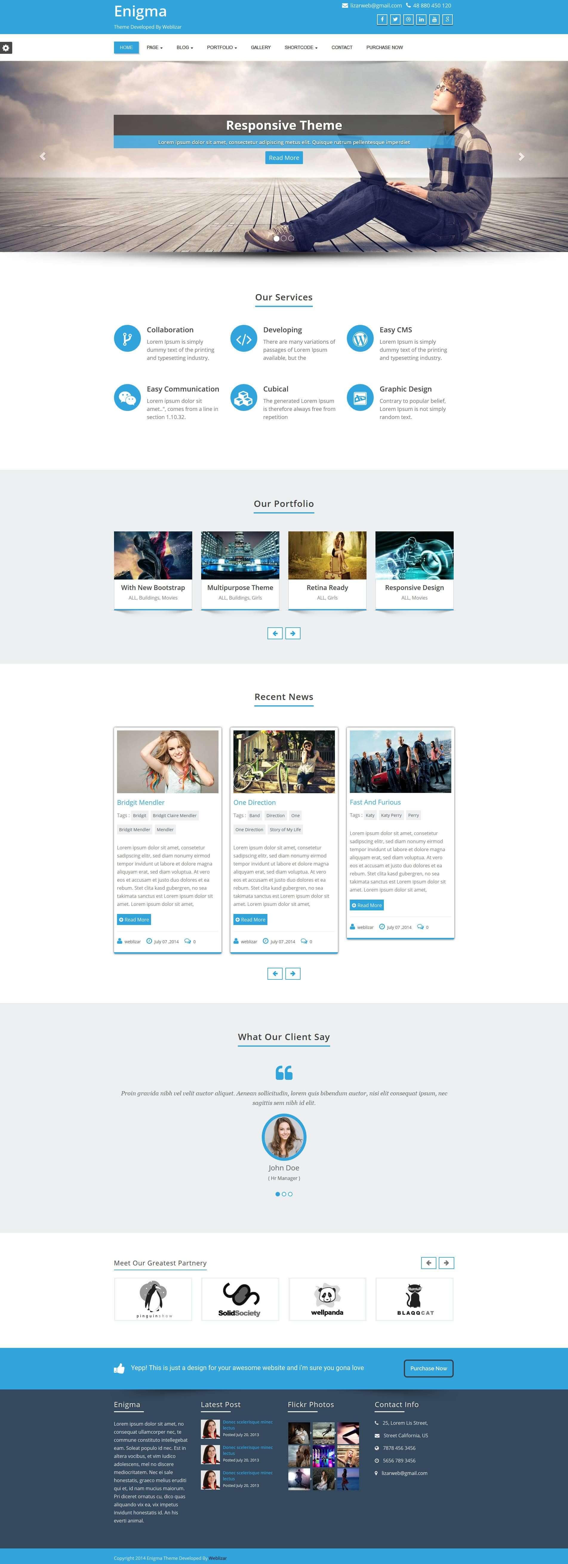 Weblizar Wordpress Free Premium Themes Plugins Html Templates