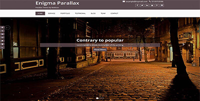 enigma parallax one page wordpress theme
