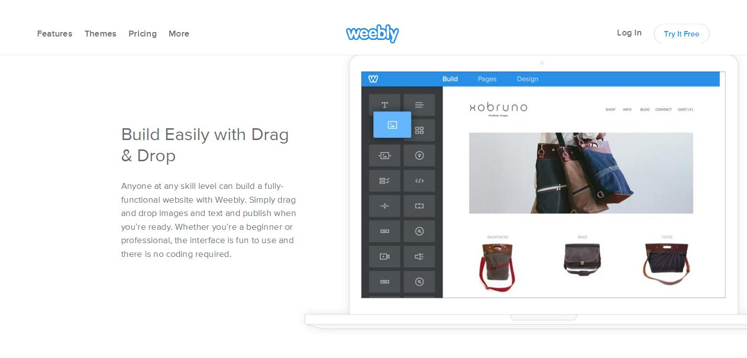 Создание сайта weebly создание роликов на сайтах