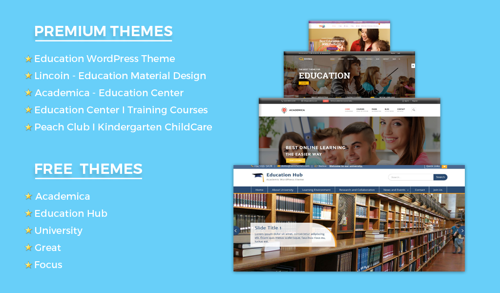 Top 10 Best Educational Themes 2016 - Weblizar