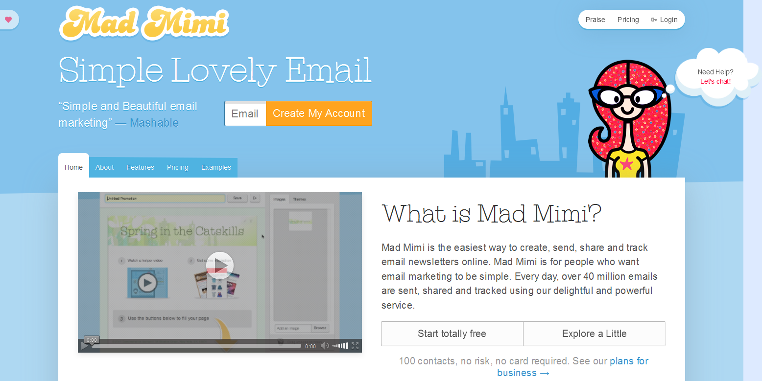 10 best email marketing and newsletter services weblizar for Mad mimi templates