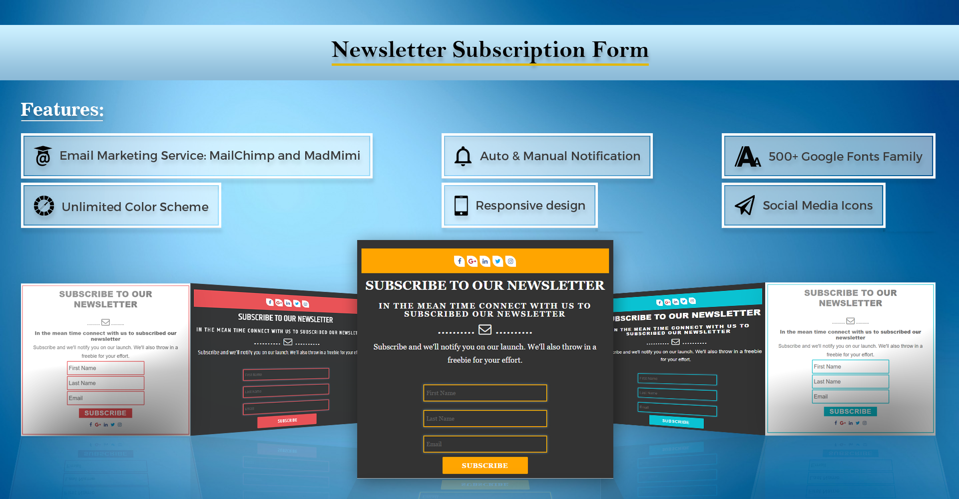 Premium Plugin Newsletter Subscription Form Pro WordPress Plugin