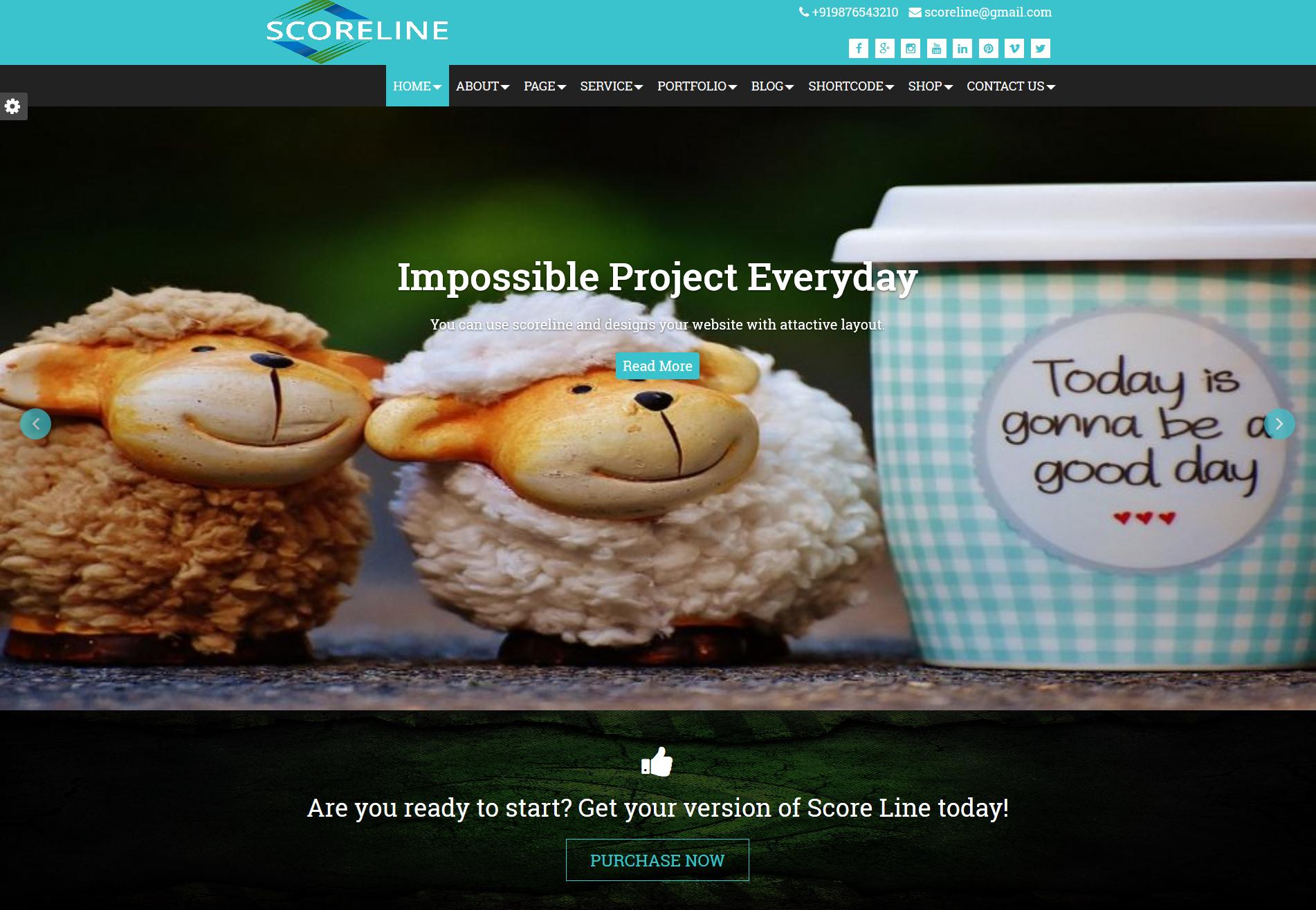 Responsive Scoreline Premium Weblizar WordPress Themes