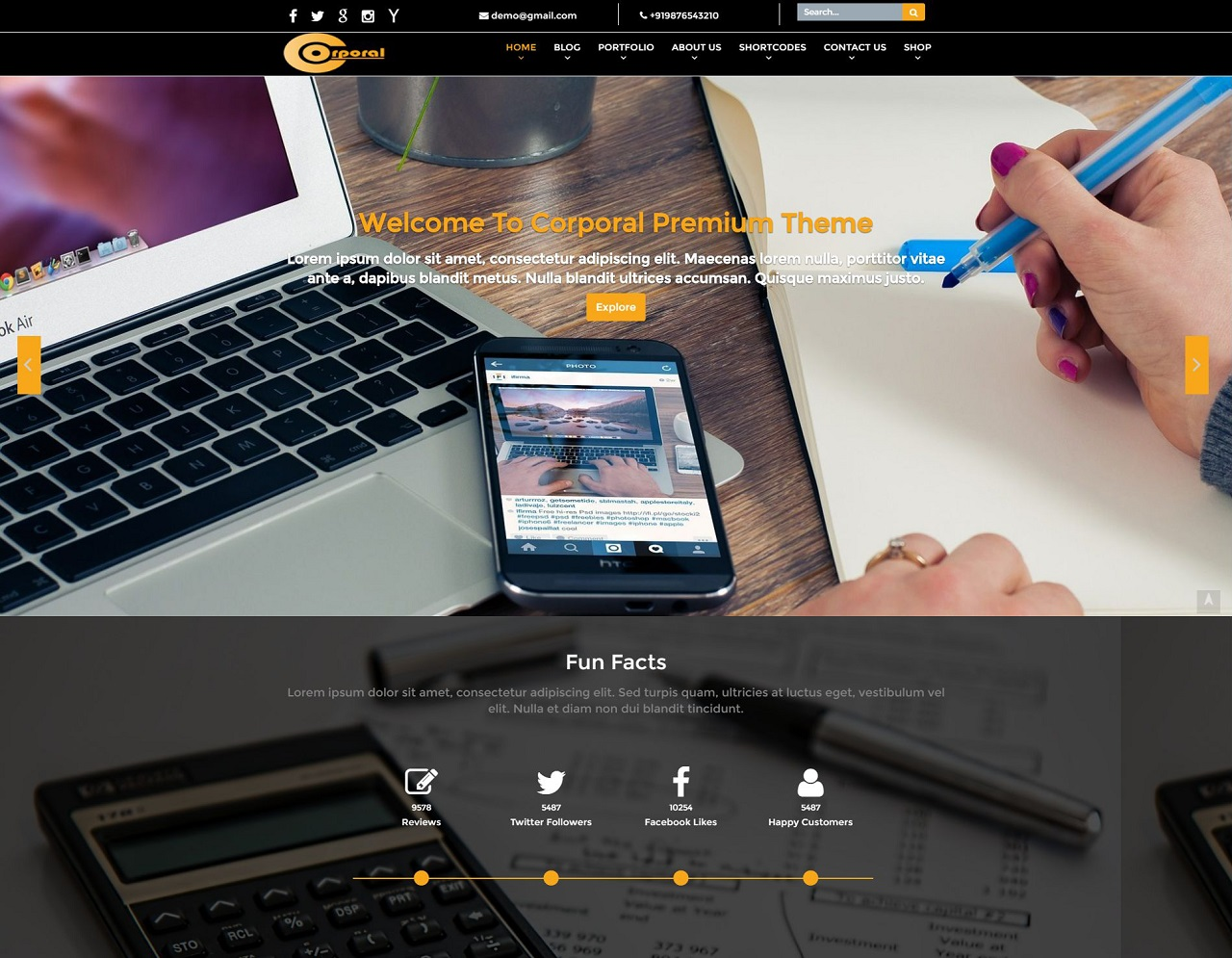 Corporal Premium WordPress Theme
