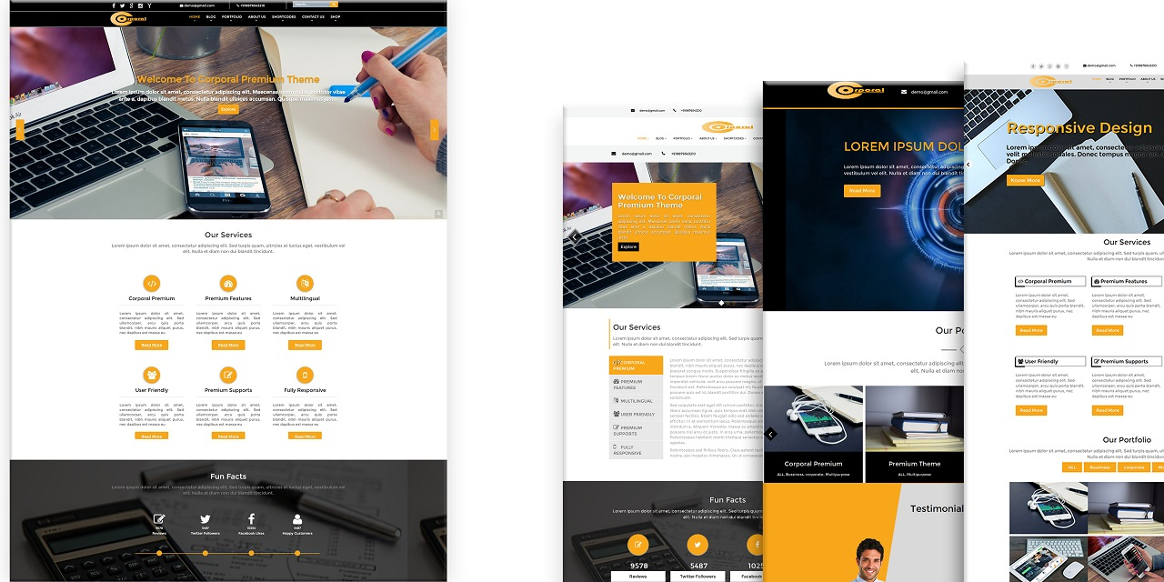 Corporal Premium WordPress Theme Screenshot 1