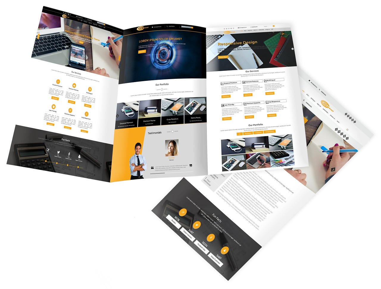 Corporal Premium WordPress Theme Screenshot 2