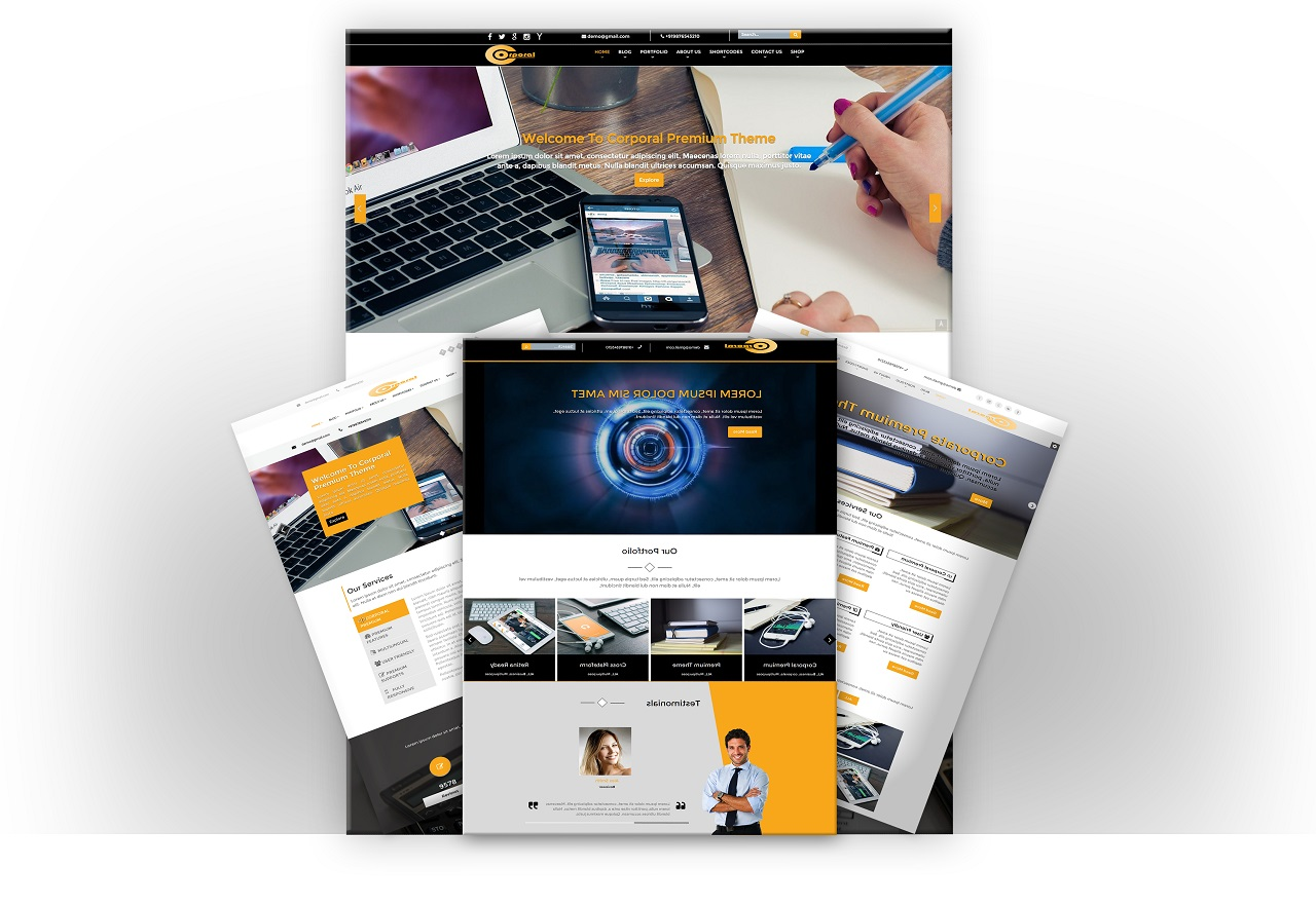 Corporal Premium WordPress Theme Screenshot 4