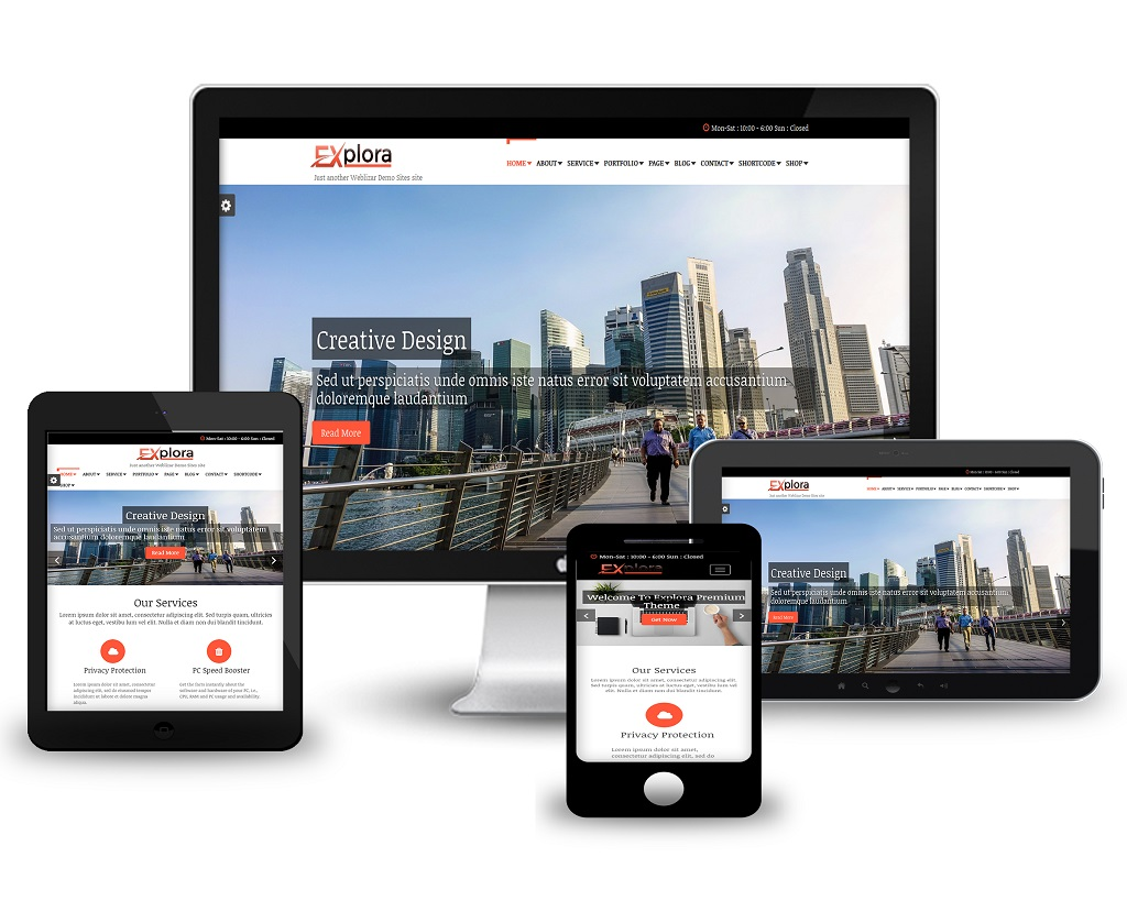 Explora Responsive WordPress Theme