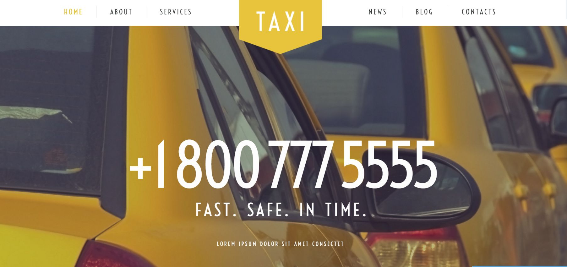 Taxi Services WordPress Theme