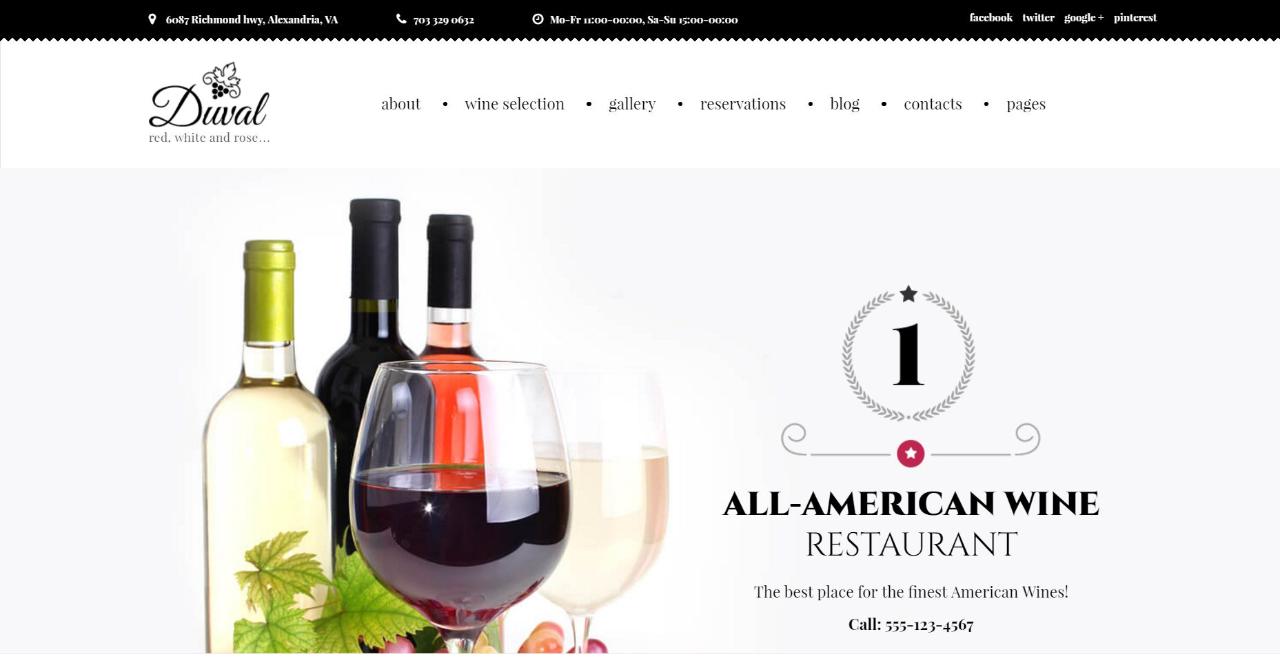 Wine Restaurant WordPress Theme
