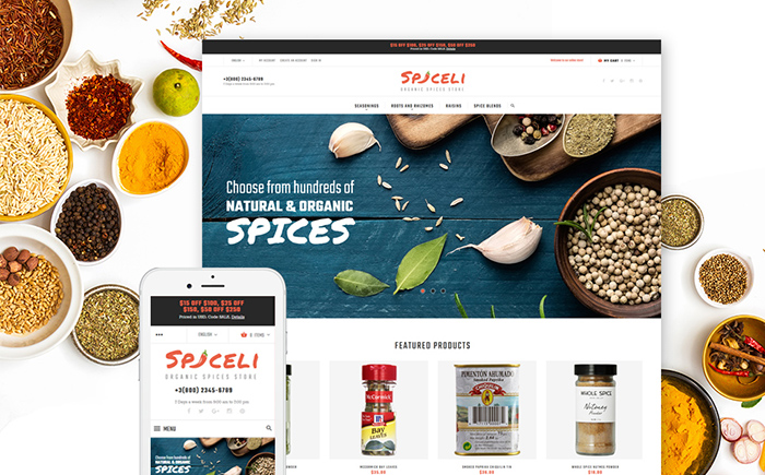 Magento spice shop theme