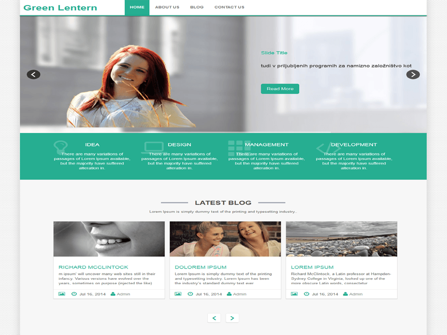green-lantern-wordpress-theme