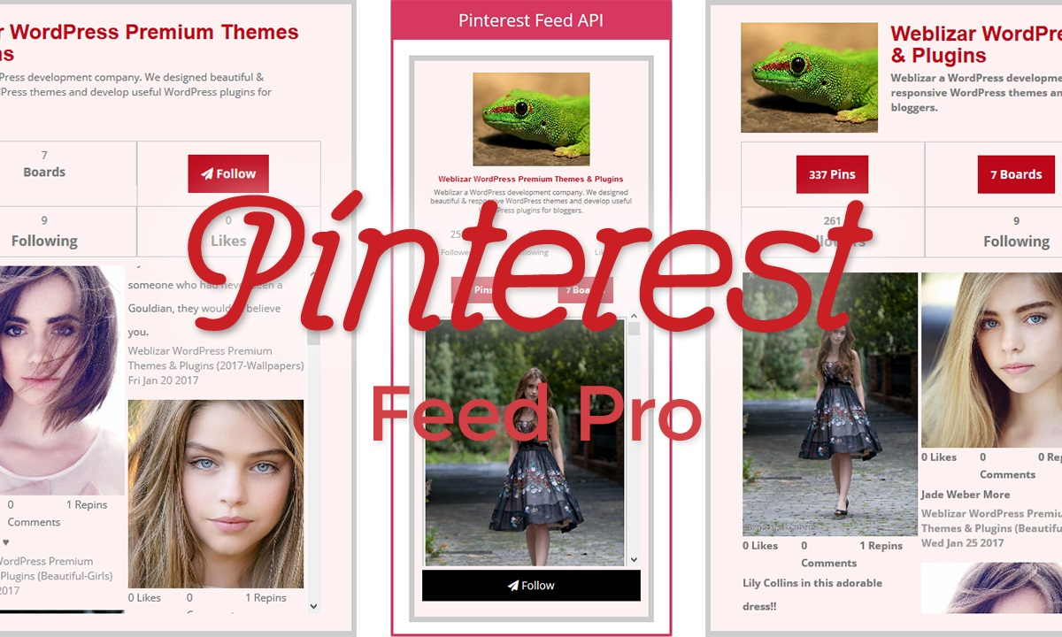 Pinterest Feed Pro Plugin