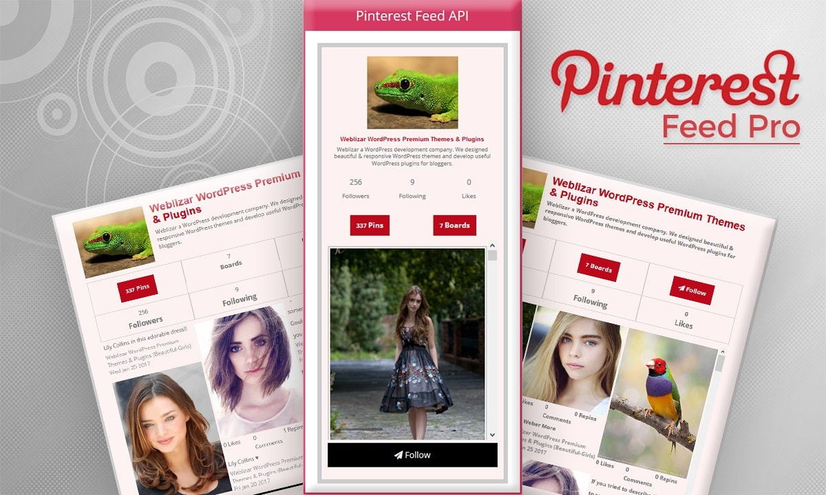 Pinterest Feed Pro WordPress Plugin