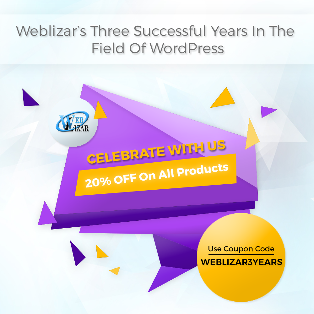 weblizar successfully completed three years since its foundation