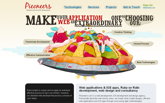 pieoneers-illustrated-web-design