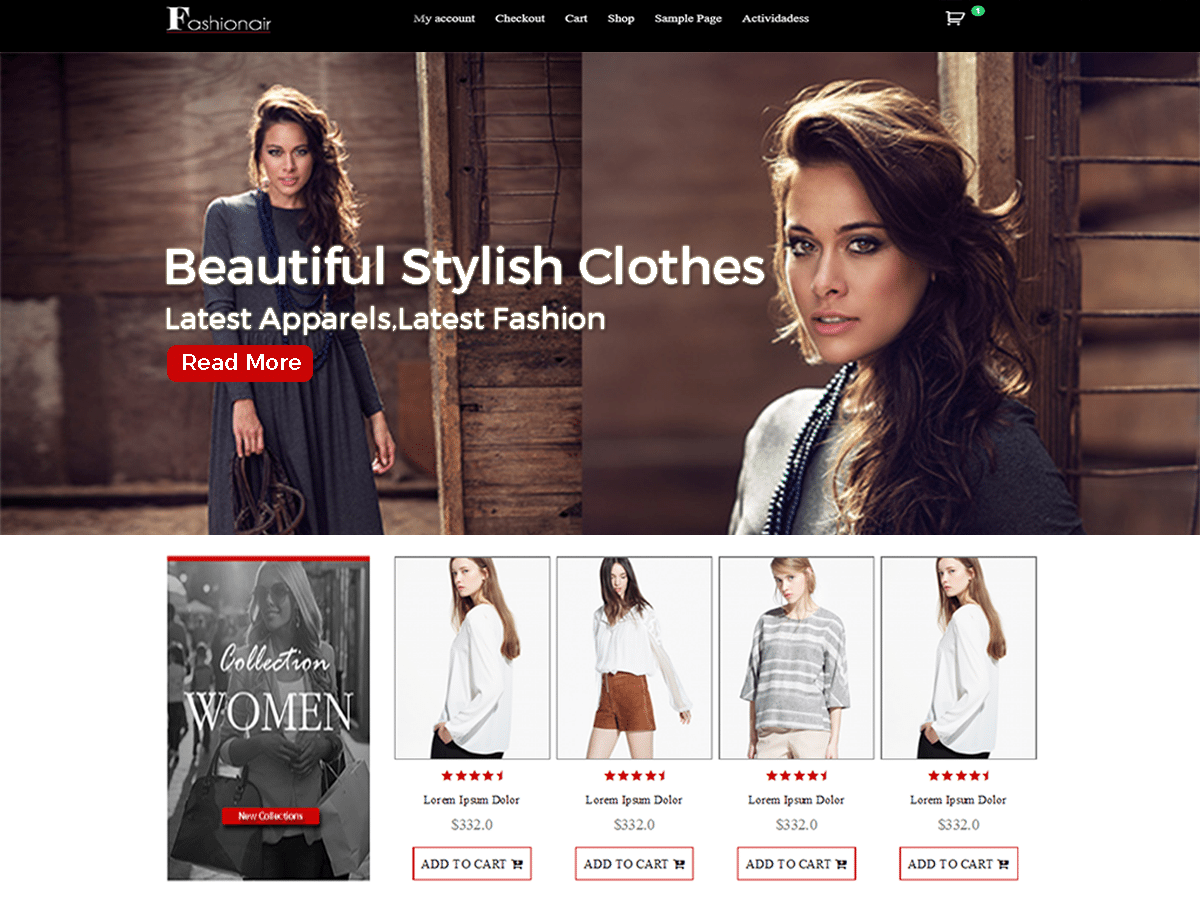 Fashionair Premium eCommerce WordPress Theme