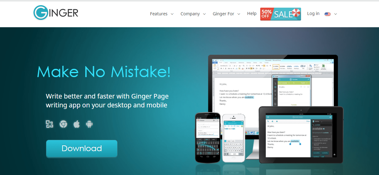 ginger Write SEO Optimized Content