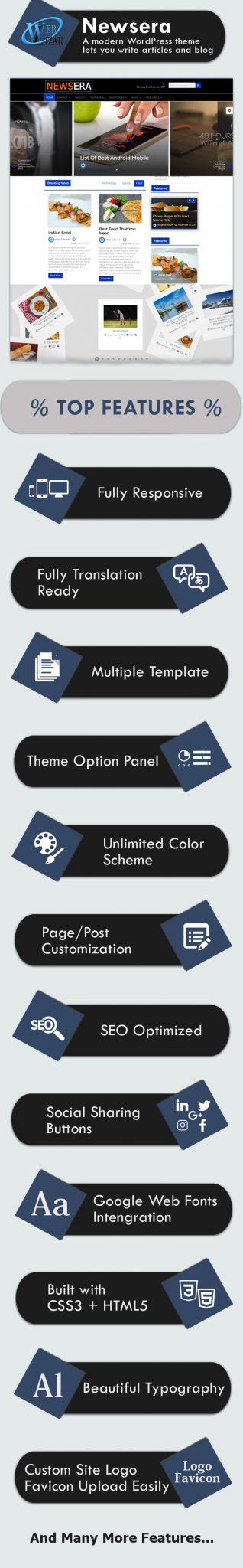 Newsera Premium WordPress Theme - Weblizar Themes